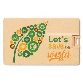 Eco Friendly USB Flash Drive Card Shaped 607